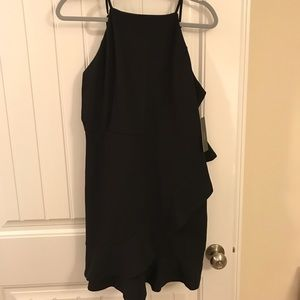 Lulu's Black Ruffled Bodycon Dress